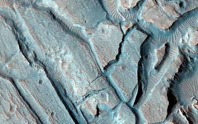 Martian Lake Sediments Art Print by Nasa