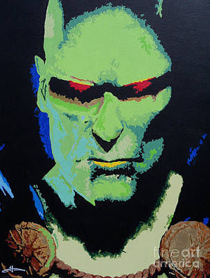 Justice Painting - Martian Manhunter - A Close Encounter by Kelly Hartman