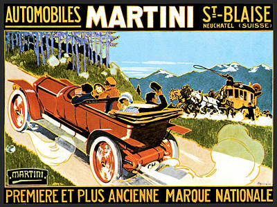 Photograph - Martin Automobiles by Vintage Automobile Ads and Posters