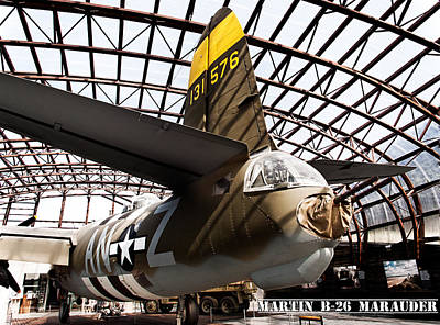 Photograph - Martin B-26 Marauder Tail by Weston Westmoreland