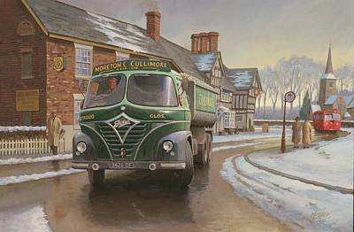 Martin C. Cullimore Tipper. Art Print by Mike  Jeffries