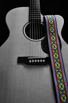 Photograph - Martin Guitar by Everett Bowers