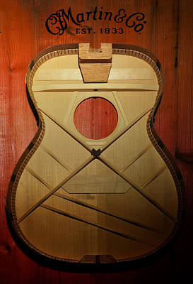 Martin Guitar - No Guts No Glory Art Print by Bill Cannon