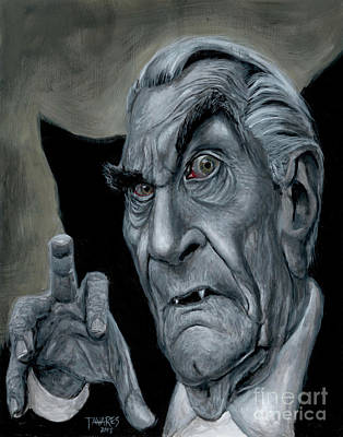 Painting - Martin Landau As Bela by Mark Tavares