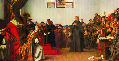 Art Print featuring the painting Martin Luther Before The Diet Of Worms by Celestial Images
