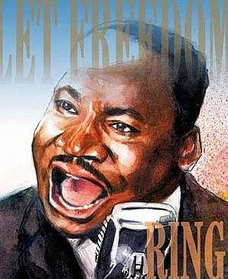Orator Painting - Martin Luther King by Gregory DeGroat