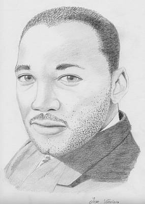 Drawing - Martin Luther King by M Valeriano