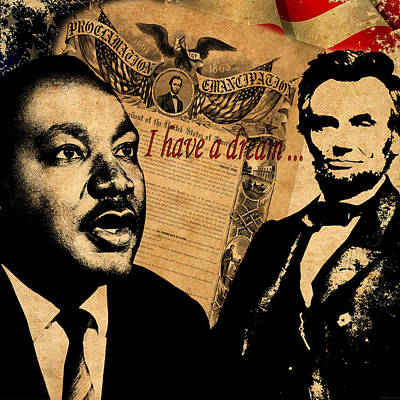 Politicians Royalty-Free and Rights-Managed Images - Martin Luther King Jr 2 by Andrew Fare