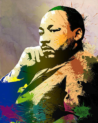 Racism Digital Art - Martin Luther King Jr.  by Anthony Mwangi