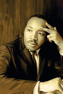 Martin Luther King Jr Artwork Art Print by Sheraz A