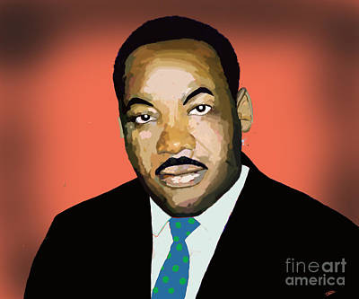 Digital Art - Martin Luther King Jr. by David Jackson