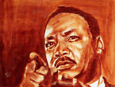 Derek Russell Wall Art - Painting - Martin Luther King Jr by Derek Russell