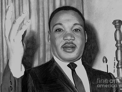 Martin Luther King Jr Print by Gil Fong