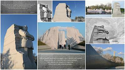Photograph - Martin Luther King Jr Memorial Collage 1 by Allen Beatty