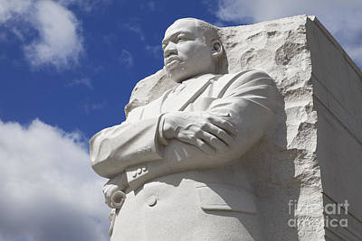 Martin Luther King Jr Memorial Dc Art Print by Dennis Flaherty