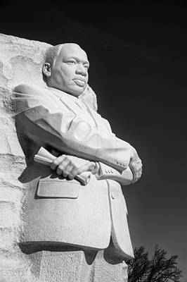 Martin Luther King Jr. Statue Art Print by Celso Diniz