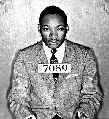 Martin Luther King Mugshot Art Print by Bill Cannon