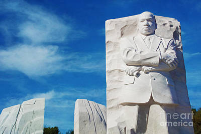 Martin Luther King Wall Art - Photograph - Martin Luther King Memorial by Laura D Young
