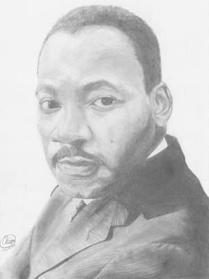 Martin Luther King Drawing - Martin Luther King by Olivia Schiermeyer