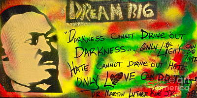 Dr. Martin Luther King Jr Painting - Martin Luther's Light by Tony B Conscious
