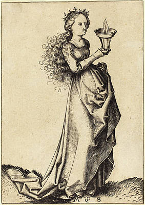 Wise Virgins Drawing - Martin Schongauer German, C. 1450 - 1491 by Quint Lox