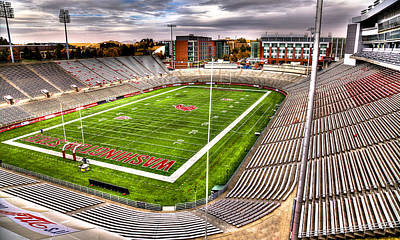 Bleachers Photograph - Martin Stadium At Washington State by David Patterson