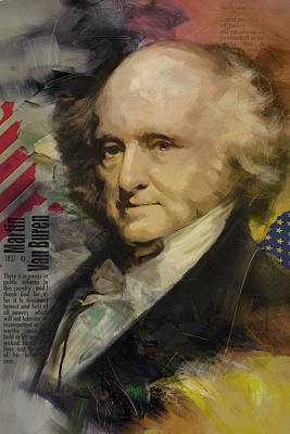 Landmarks Painting Royalty Free Images - Martin Van Buren Royalty-Free Image by Corporate Art Task Force