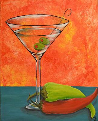 Martini And Pepper Art Print
