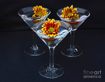 Martini Royalty-Free and Rights-Managed Images - Martini Anyone by Joan Powell