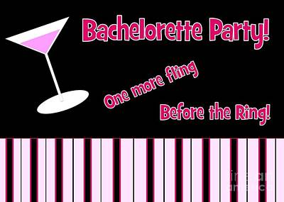 Digital Art - Martini Bachelorette by JH Designs
