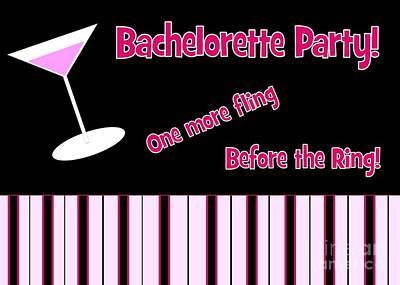 Digital Art - Martini Bachelorette by JH Designs