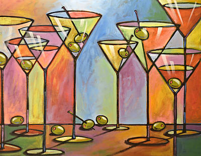 Martini Bar ... Abstract Alcohol Art Art Print