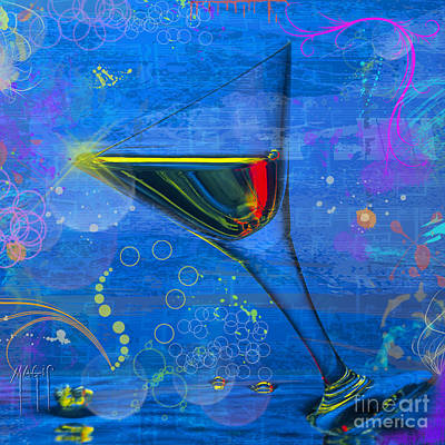 Martini Royalty-Free and Rights-Managed Images - Martini Blue by Mauro Celotti