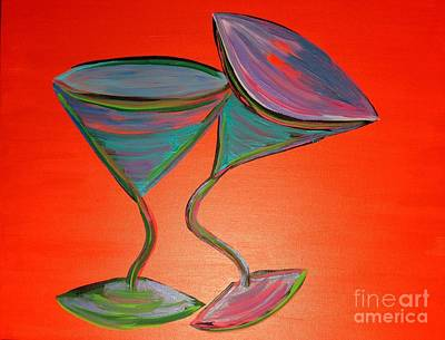 Martini Painting Royalty Free Images - Martini Cuddles Royalty-Free Image by Melissa Darnell Glowacki