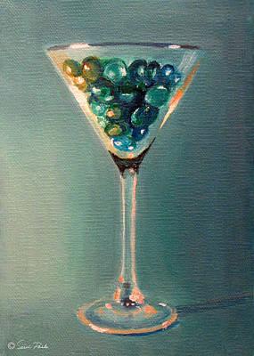 Martini Paintings - Martini Glass by Sarah Parks