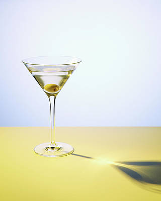 Photograph - Martini In Martini Glass With Olive by Felicity Mccabe