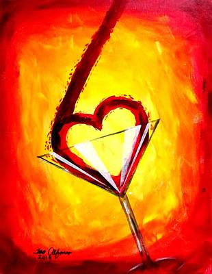 Painting - Martini Love by Teo Alfonso