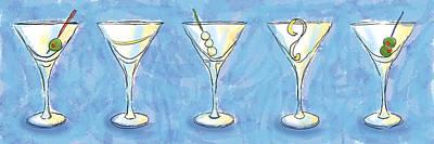 Martini Lunch Art Print