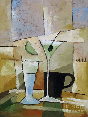 Coffee Painting - Martini by Lutz Baar