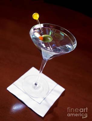 Martini Mixed Media - Martini Painting by Jon Neidert