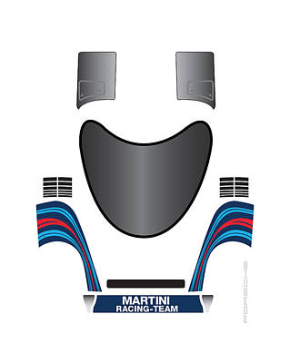 Martini Porsche Art Print by Pmd Design