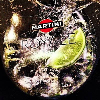 Martini Wall Art - Photograph - Martini Royale At Cafe Shokolad #cafe by Michael Goyberg