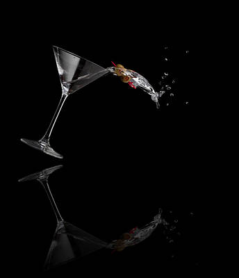 Martini Photos - Martini Spilling by Alexey Stiop