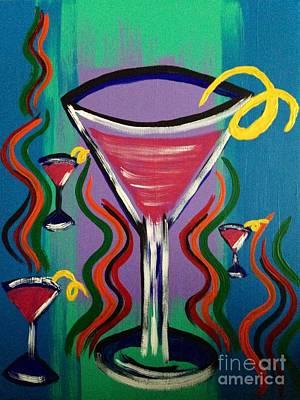 Martini Paintings - Martini Twist by Melissa Darnell Glowacki