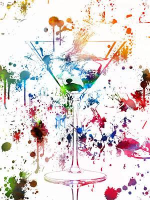 Martini Watercolor  Art Print