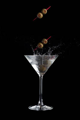 Martini Photos - Martini with Olives by Alexey Stiop