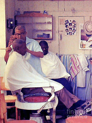 Photograph - Martinique Barber Shop by Merton Allen