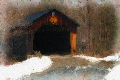 Martinsville Covered Bridge Art Print by Mike Martin