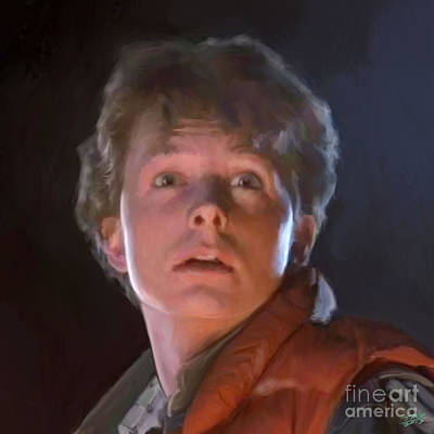 Celebrities Digital Art - Marty Mcfly by Paul Tagliamonte