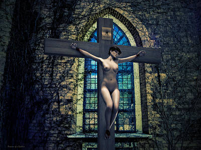 Martyr Of The Curch II Art Print by Ramon Martinez
